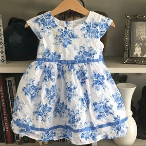 Beautiful George Blue and White Floral Dress